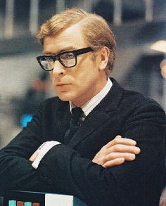 Michael Caine as Harry Palmer in the movie version of Len Deighton's The Ipcress File.