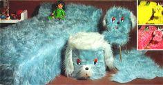 We had a tiny stuffed blue armchair like these!