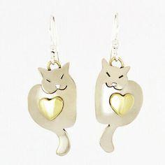 polymer cat earrings women/'s cat earrings Resin cat earrings kitty earrings abstract earrings dangle cat earrings multicolor earrings