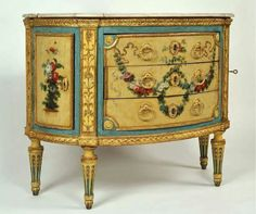 AWSOME CHEST, DECORATIVE CARVING  MARBLE TOP, GUILDING ON LEGS, SIDES OF PANELS, BEAUTIFUL SHADE OF BLUE ACCENT, NOT SURE IF IT IS VINTAGE-BUT IT IS A GORGEOUS PIECE!