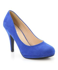 Look at this #zulilyfind! Bella Marie Blue Nine Pump by Bella Marie #zulilyfinds