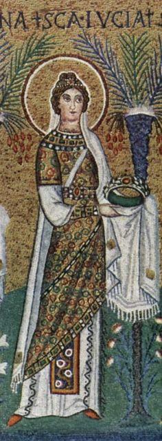 """Sainte Lucie - Lucie de Syracuse, vierge et martyr du début du IVe siècle. Lucie du latin """"lux"""" (lumière)"""