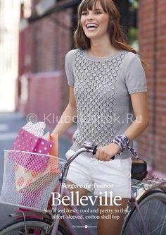 Топ BELLEVILLE | Вязание для женщин | Вязание спицами и крючком. Схемы вязания.