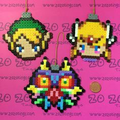 Legend of Zelda Christmas Pixel Baubles