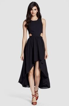 Lovers + Friends 'Foxy' Cutout High/Low Midi Dress available at Fashion Vestidos, Nordstrom Dresses, High Low, Party Dress, Dress Up, Prom Dresses, Gowns, Style Inspiration, Stylish
