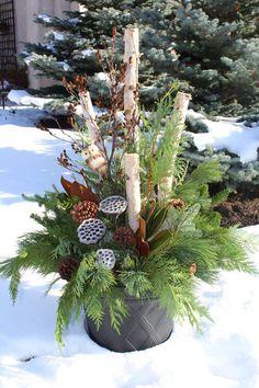 traditional Christmas urn