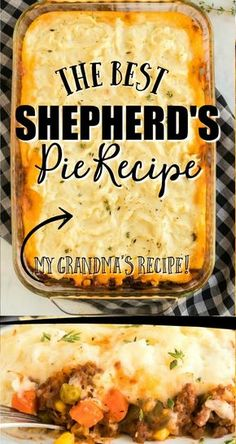 This classic shepherds pie recipe is the ultimate in savory comfort food! Perfectly seasoned ground beef and veggies are topped with creamy homemade mashed potatoes before being baked in a casserole dish. The post This classic shepherds pie recipe is the Best Shepherds Pie Recipe, Shepherds Pie Rezept, Shepards Pie Easy, Irish Recipes, Meat Recipes, Cooking Recipes, Comfort Food Recipes, Venison Recipes, Recipes