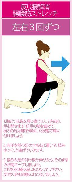 反り腰を改善する腸腰筋ストレッチ Health Diet, Health Care, Health Fitness, Body Action, Lose Weight, Weight Loss, Diet Motivation, For Your Health, Yoga Fitness