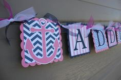 Nautical Themed Party Anchor Nautical Name by WhimsicallyCreated