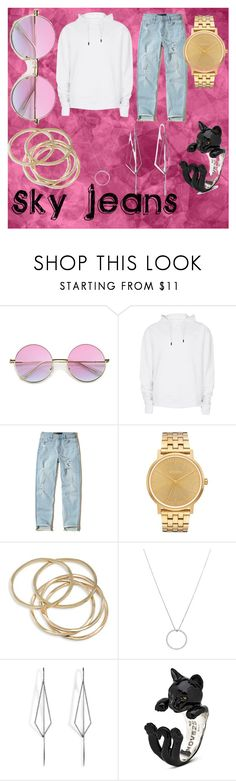 """""""Sky Jeans"""" by kiki-man on Polyvore featuring Topman, Hollister Co., Nixon, ABS by Allen Schwartz, Roberto Coin and Diane Kordas"""