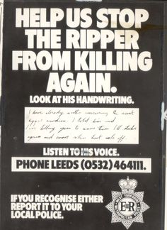 Yorkshire Ripper attacks 6 women, killing 4. Peter surcliffe eventually caught in 1980 and convicted of murdering 13 women and attempting to murder 7 others