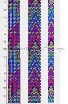 "Photo from album ""Схемы жгуты"" on Yandex. Bead Crochet Patterns, Bead Crochet Rope, Seed Bead Patterns, Peyote Patterns, Beading Patterns, Beaded Crochet, Crochet Beaded Bracelets, Beaded Bracelet Patterns, Seed Bead Jewelry"