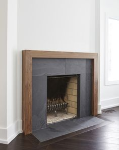 Summerhill Standout by M-Squared Contracting Basement Fireplace, Home Fireplace, Fireplace Remodel, Fireplace Surrounds, Fireplace Design, Fireplaces, Home Remodeling, Home Renovation, Living Room Decor
