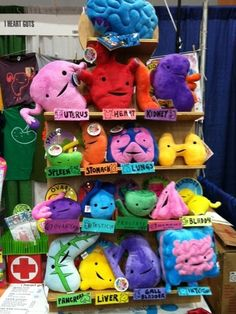 Internal organ plushies