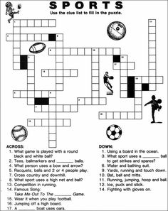 photograph relating to Sports Crossword Puzzles Printable known as 19 Least difficult Simple Crosswords visuals in just 2019 Crossword puzzles