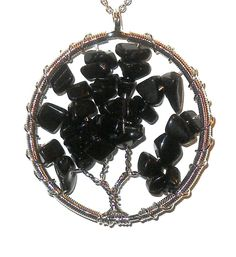 Tree of Life Black Agate Pendant  20.00 ctw  #Unbranded #Pendant http://stores.ebay.com/JEWELRY-AND-GIFTS-BY-ALICE-AND-ANN