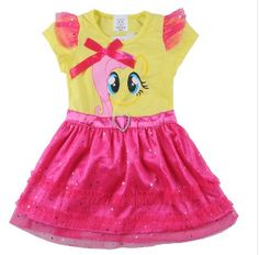 FLUTTER SHY PONY DRESS Price $19.99, Free Shipping Options: 3T, 4T