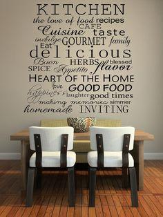 Kitchen Words Decorative Vinyl Wall Decal. $14.99, via Etsy.