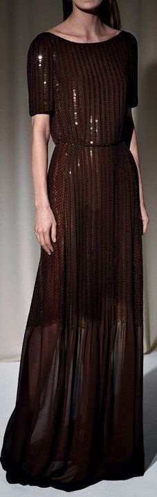 Nina Ricci Sequins Embroidered Long Dress