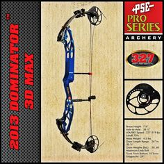 Dominate the World With the Dominator 3D Max! #archery #bows @psearchery