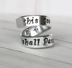 This too shall pass Ring  Personalized Ring  by RogueFairyBoutique