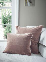 Velvet & Linen Cushions - Mink