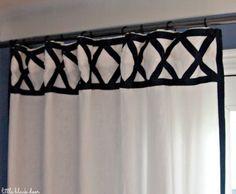 DIY ribbon trim curtain panels