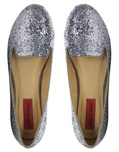 Enlarge London Rebel Glitter Slipper Shoe