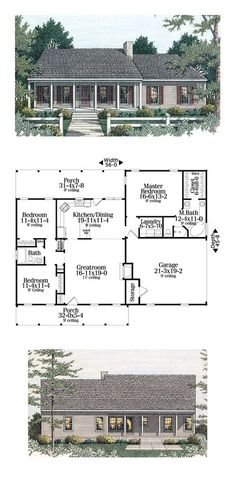 Best Selling House Plan 40026 | Total Living Area: 1492 sq. ft., 3 bedrooms and 2 bathrooms. #bestsellinghome