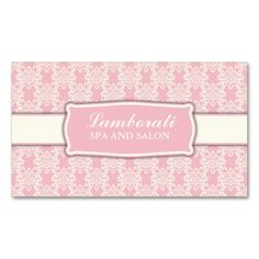 Elegant Professional Damask Floral Pattern Salon Double-Sided Standard Business Cards (Pack Of 100). This great business card design is available for customization. All text style, colors, sizes can be modified to fit your needs. Just click the image to learn more!