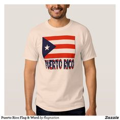 Puerto Rico Flag & Word Tee Shirt