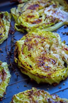With a sweet-savory balsamic and honey glaze, these thick cabbage slices broiled in the oven are perfect to accompany your grilled meat or poultry. http://eatwell101.com