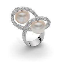 Roberto Coin Haute Couture pearl and diamond ring