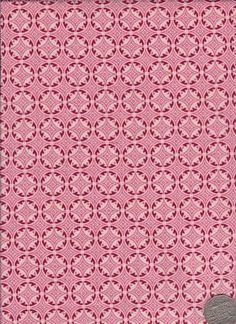 "Circles Red  ""Mosaic Bloom"" designed by Rosalie Dekker."