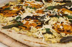 Vegan Butternut Squash and Crispy Sage Pizza