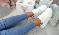 Platform Contrast Heel Trainers Lace Up Trainers, Leather And Lace, Party Wear, Contrast, Platform, Sneakers, Casual, Design, Women