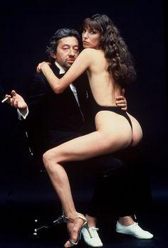 Serge Gainsbourg and Jane Birkin by Helmut Newton (1978)