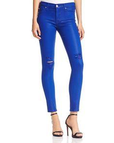 Hudson Nico Mid Rise Super Skinny Jeans in Blue My Mind   eBay