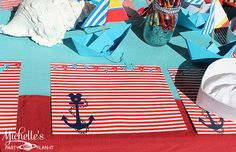 Set of 12 Mickey Mouse inpired Nautical Party Activity Placemats. $16.00, via Etsy.