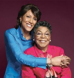 Robin Roberts & Her Late Mother....What An Extraordinary Pair of Ladies...Robin's Battle With Cancer and Recent Bone Marrow Transplant, During Which She Lost Her Beloved Mom, Has Touched All of Us...Two Ladies To Admire, Indeed!!