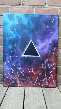 Pink Floyd Painting Pink Floyd Canvas Space Painting Galaxy Canvas Sacred Geometry Painting Night Sky Canvas Astrology Painting is part of Painting A Day Week Painting A Day Daily Paintings - themindblossom Space Painting, Easy Canvas Painting, Simple Acrylic Paintings, Acrylic Canvas, Canvas Art, Canvas Ideas, Galaxy Painting Acrylic, Painting Abstract, Black Canvas Paintings