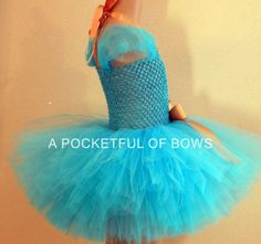 Birthday Tutu Dress Turquoise Tutu by APocketfulofBows Birthday Tutu, Girl Birthday, Princess Tutu Dresses, Toddler Costumes, Toddler Girl, Party Dress, Bows, Turquoise, Arches