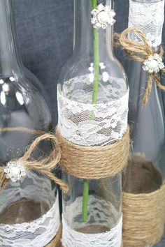 Rustic by DazzlingGRACE (Bottle Centerpieces) Wine Bottle Centerpieces, Fall Wedding Centerpieces, Wedding Decorations, Table Decorations, Diy Wedding, Rustic Wedding, Wedding Stuff, Dream Wedding, Wedding Ideas