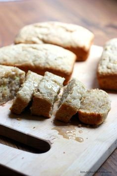 These unbelievably moist Cream Cheese Banana Bread Mini Loaves with Maple Glaze take the traditional banana bread to the next level. Freezes well, so double this recipe.