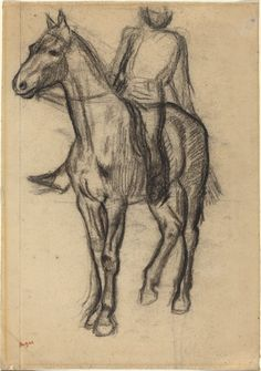 Top Impressionist Paintings - Edgar Degas, Horse and Rider, c. 1878