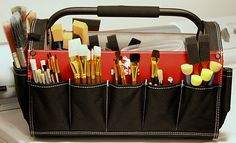 Husky Tool Caddy sold at Lowe's.  Perfect for storing paint and craft supplies.
