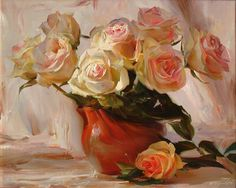 paintings of red daisies in a vase - Yahoo Image Search Results