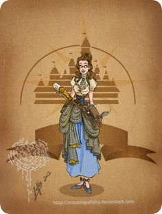Disney steampunk: Belle by *MecaniqueFairy on deviantART