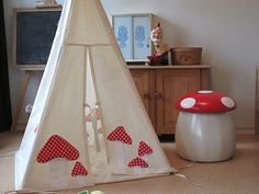 A sweet Mushroon Teepee from the Netherlands