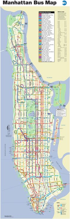 Manhattan bus map